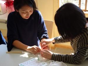 草木染教室(オリーブ染め)